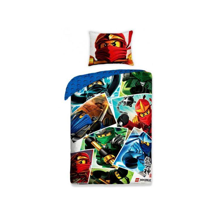 LEGO NINJAGO 2 részes ágynemű-garnitúra 140x200+70x90 cm, Díszpárna.com Webáruház