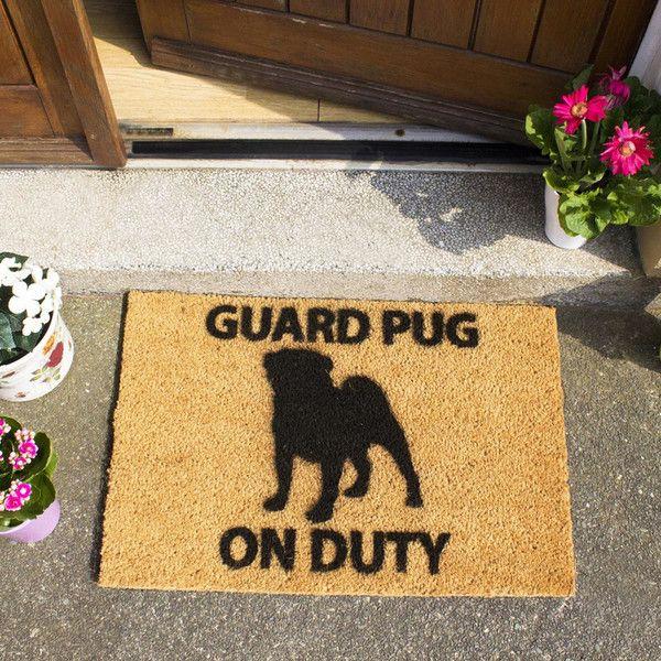 Rohožka Guard Pug, 40x60 cm