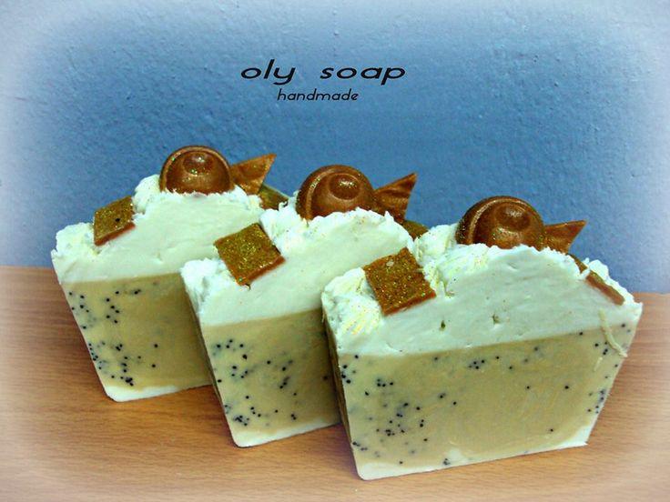 Σαπούνι με γάλα-μέλι-παπαρουνόσπορο  SOAP WITH HONEY MILK AND POPPY SEEDS