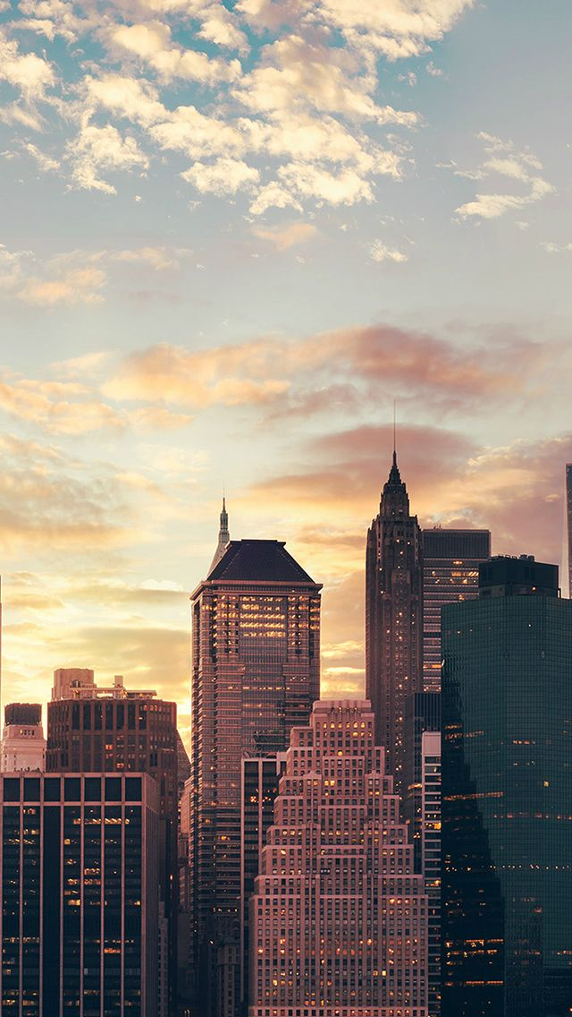 Cityscape Skyline High Buildings Skyscrapers Sunset #iPhone #5s #wallpaper