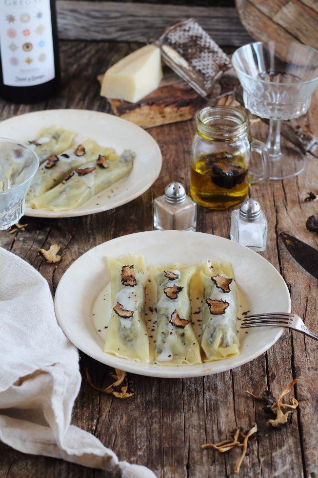 Mi Gran Diversión: Canelones de setas con crema de parmesano y trufa