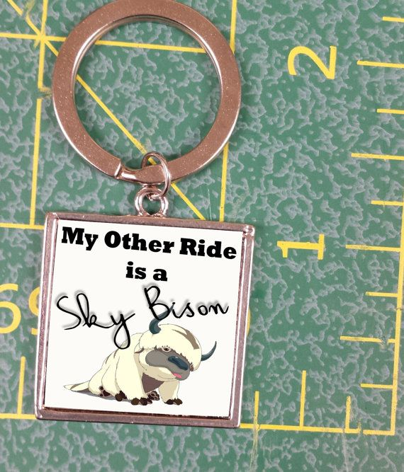 Avatar My other ride is a sky bison  Appa KEYCHAIN by DecalHunterz, $9.99