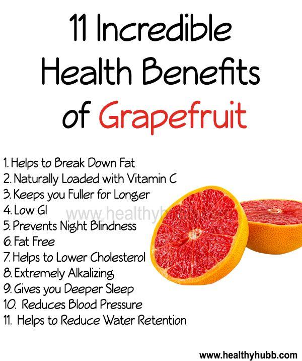 11 Incredible Health Benefits of Grapefruit!  #wellness #health #organic #fruit #nutrition #food