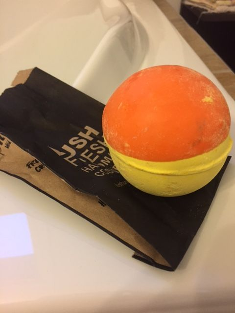 Finally got some downtime for myself and this  @lushcosmetics  bath bomb was the perfect remedy that I've been needing. #lush #bathbomb #vegan