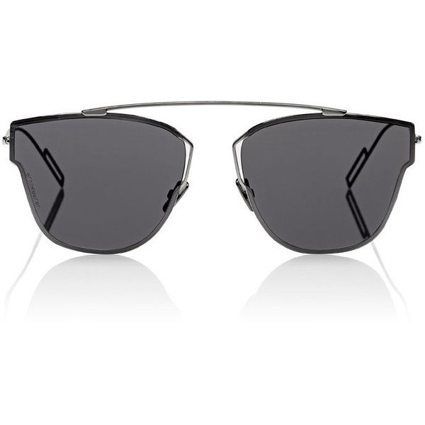 Dior Homme Deconstructed-Pantos-Shaped Sunglasses ($465) ❤ liked on Polyvore featuring men's fashion, men's accessories, men's eyewear, men's sunglasses, silver and dior homme