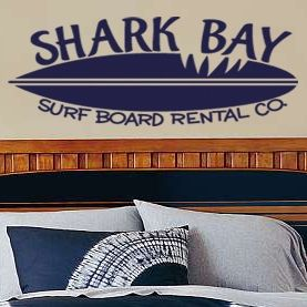 Shark Bay Surf Board Rental vinyl wall decal bedroom home decor