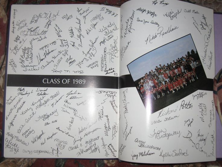 yearbook signature page - blocks?
