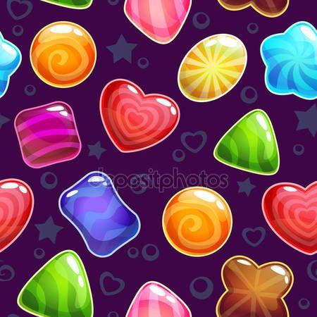 Скачати - Милий цукерки візерунком — стокова ілюстрація #62273501