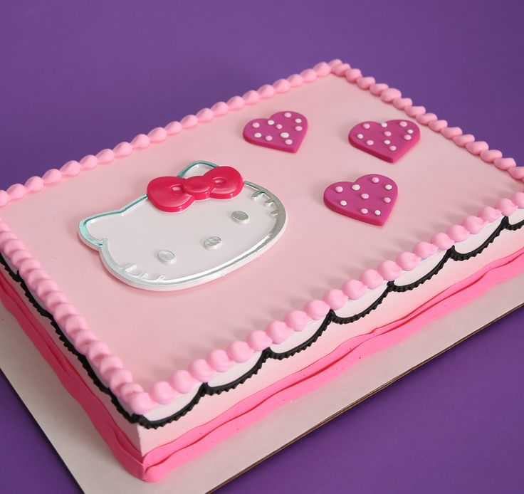 Hello Kitty cake topper, love this for Valentine's Day!