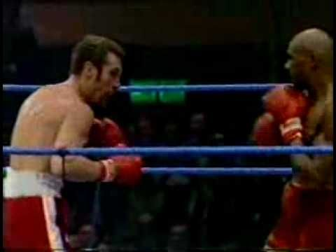 Marvin Hagler v Alan Minter, 1980. The ferocious Hagler takes apart the game but outgunned East Londoner. Crazy scenes at the end of the fight a nasty reminder of 1970s Britain's racist minority.