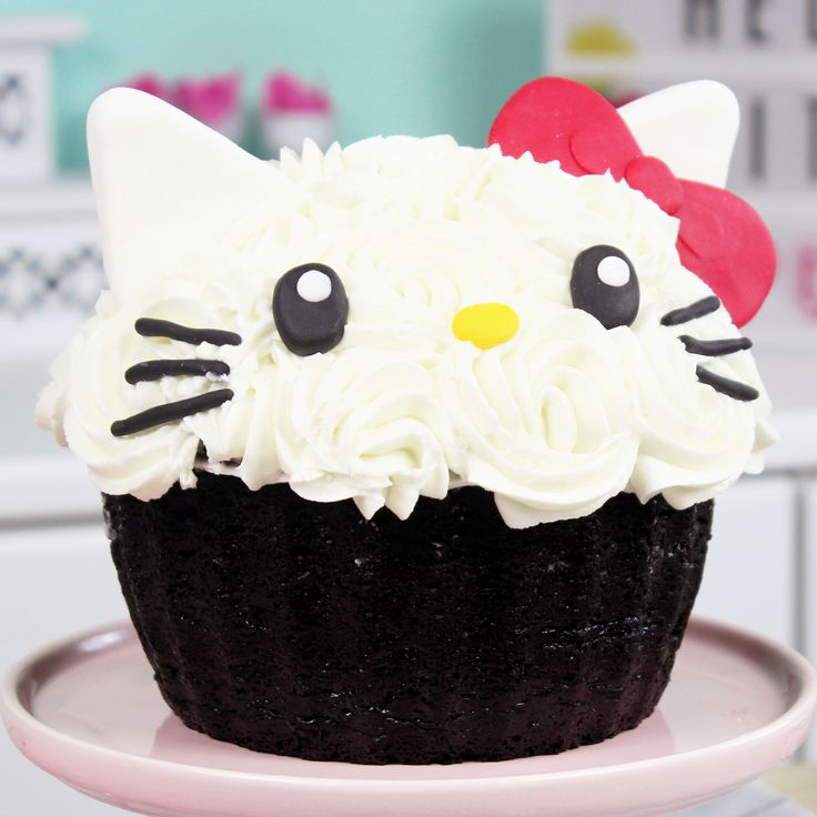 How to Make a Giant Hello Kitty Cupcake! and like OMG! get some yourself some pawtastic adorable cat apparel!