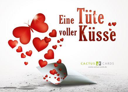 Eine Tute Voller Kusse Postkarte Lieb Suss