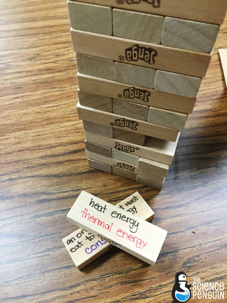 Science Vocabulary Review Jenga. Games make review fun and active.