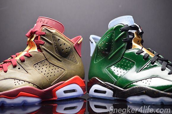 Air Jordan 6 Cigars & Champagne Pack Detailed Look