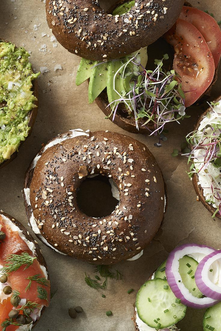 Pumpernickel Bagels - A chewy rye flavored bagel http://www.kingarthurflour.com/recipes/pumpernickel-bagels-recipe