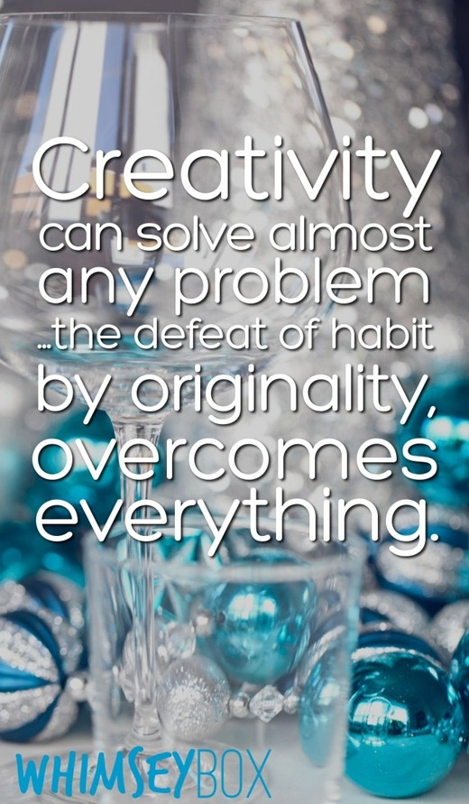Inspirational Quotes On Pinterest: Creativity Can Solve Almost Any Problem ... #quotes
