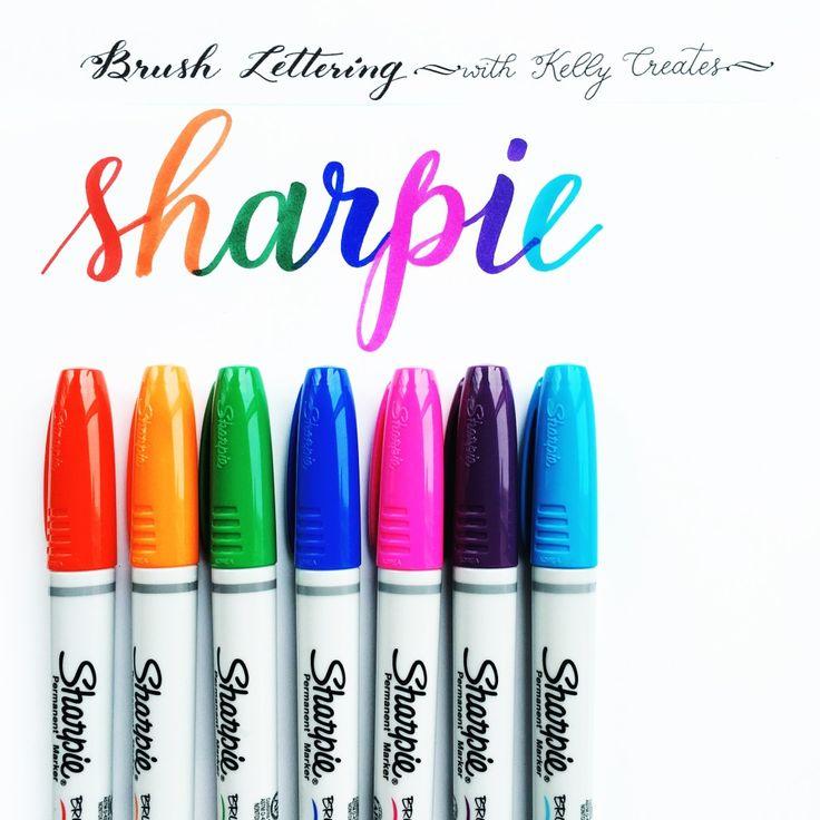 @kellycreates #sharpie #brush #lettering #handlettering #learn #practice #brushlettering #review