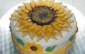 Torta girasole per francesca e tanti auguri