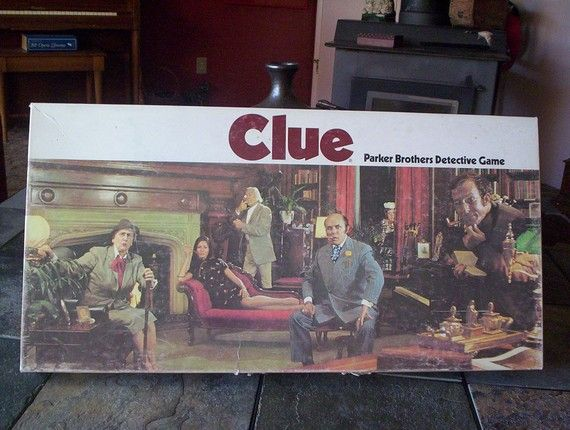 Vintage Board Game. Clue Board Game. 1972 Parker Brothers. Made in USA.  Price Reduced via Etsy