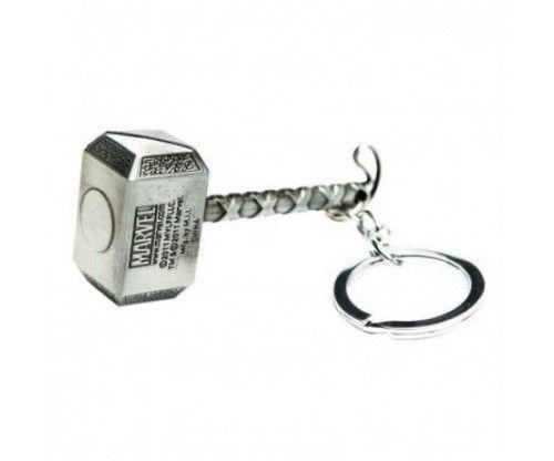 Thor kalapácsa fém kulcstartó - szuperhősös kulcstartó - képregényhősök kedvelőinek remek ajándék