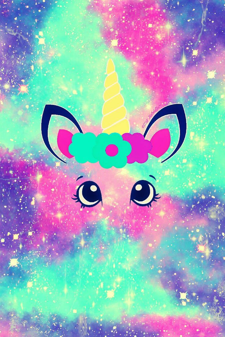 Cotton candy unicorn galaxy iPhone/Android wallpaper I created for the app CocoPPa.