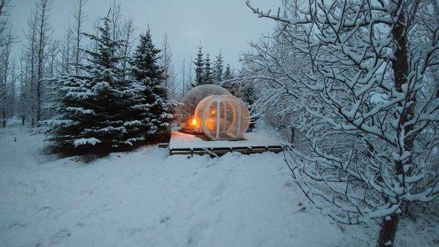 Iceland hotel northern lights