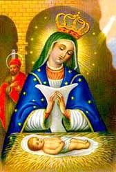 Imágen de la Virgen de la Altagracia