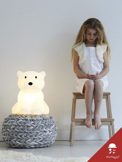 Dutch company Mr Maria have created this beautiful LED light designed to look like an adorable little polar bear cub.  Nanuk reflects the beauty of the aurora light of the great north pole where he is from.  This charming lamp creates a soft and warm atmosphere and comes with a dimmer that can brighten or soften the light as need be. Nanuk is an appealing lamp that will be adored by your child from the moment they meet.