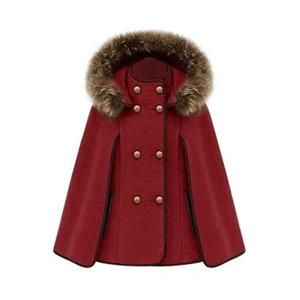 Coats - Double Breasted Red Cape Coat #pariscoming your personal style online store. like it? buy now.