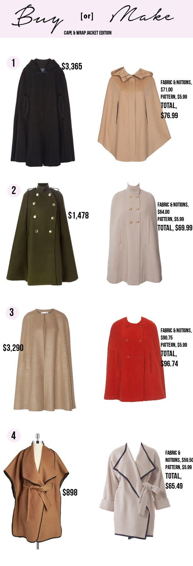 Buy or Make: Cape & Wrap Jacket Edition – Sewing Blog | BurdaStyle.com