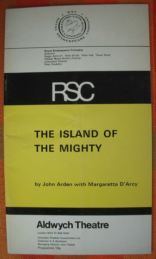 The Island of the Mighty - RSC Aldwych Theatre Programme 1972/1973 1970s