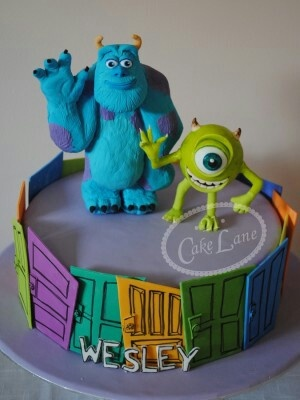 Monsters inc cake. Jake wants something like this.  the colors are not exciting enough for a 6 year old though!