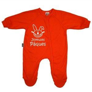 Pyjama bébé rigolo : Joyeuses PÂQUES