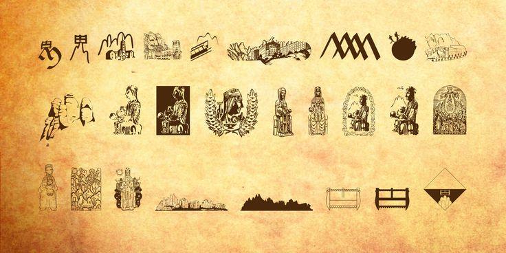 New free font 'JMH Moreneta Dingbats' by joorgemoron · Free for personal use · #freefont #font #freefont