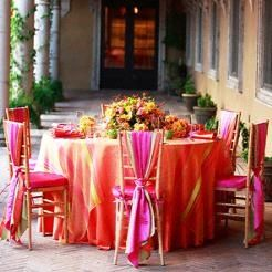 i like the look of this..in a yellow/gold and red..Indian Wedding Decor #Pinned by Devika Narain