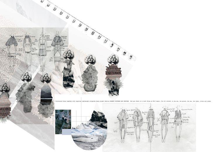 Karen Millen design development boards by Hannah Brook
