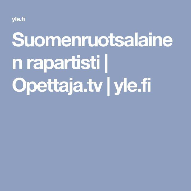 Suomenruotsalainen rapartisti | Opettaja.tv |yle.fi