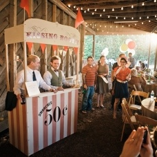 circus...this would be cute to have at a circus theme party where you have a little booth set up to display the food.