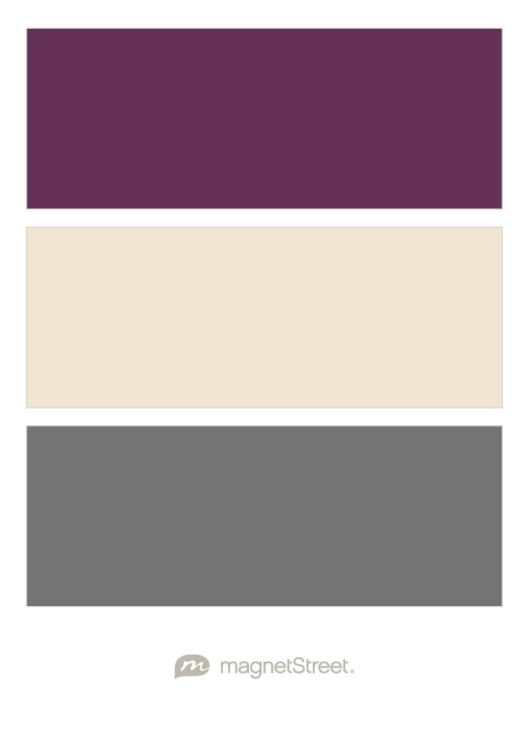 Eggplant, Champagne, and Charcoal Wedding Color Palette - custom color palette created at MagnetStreet.com