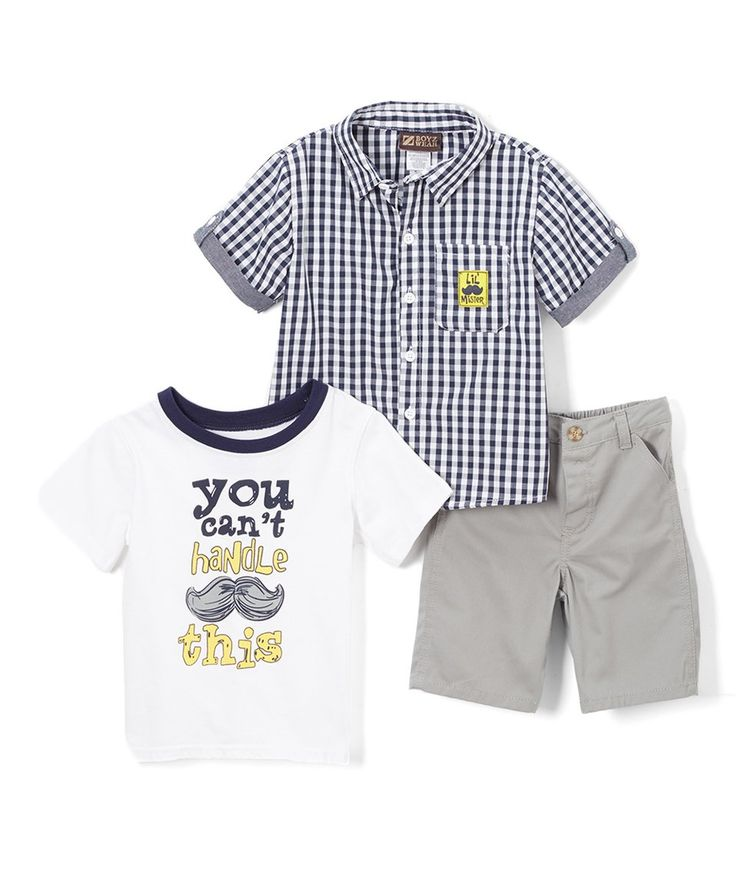 Take a look at this BOYZ WEAR Blue 'Mister' Button-Up - Infant, Toddler & Boys today!