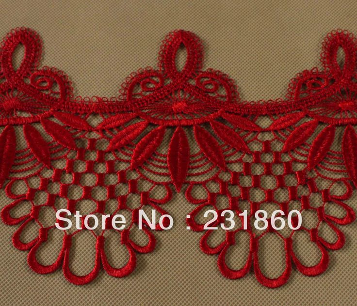 Aliexpress.com: Compre 3 jardas Red Tecido Bela Venise guarnição do laço Franja Enfeite U$ 6.76