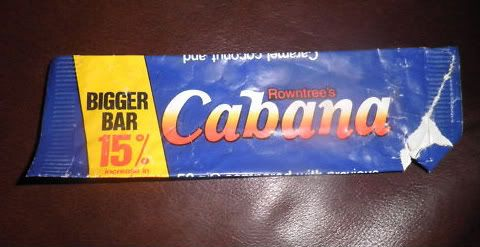 Cabana Bar - I had totally forgotten about these! We still sing the tune from the advert and they would still be my favorite chocolate bar of all time.