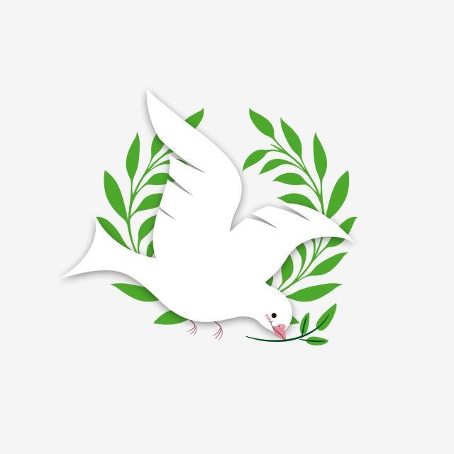 السلام الزيتون فرع حمامة يدوية مرسومة باللون الاجنبي فرع الزيتون السلام حمامة السلام اللون الخارجي Png وملف Psd للتحميل مجانا Bricolage Printemps