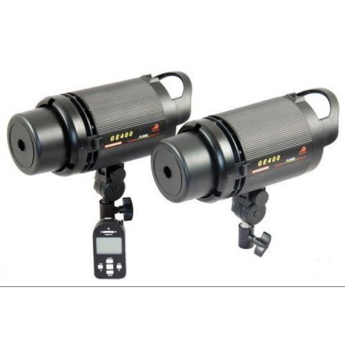 409.00$  Watch now - http://alixum.worldwells.pw/go.php?t=32629696772 - CONONMARK Two Flashes GE400 400W 3G 2.4GHZ Wireless Strobe Flashlight,Studio strob,lamp for photography studio