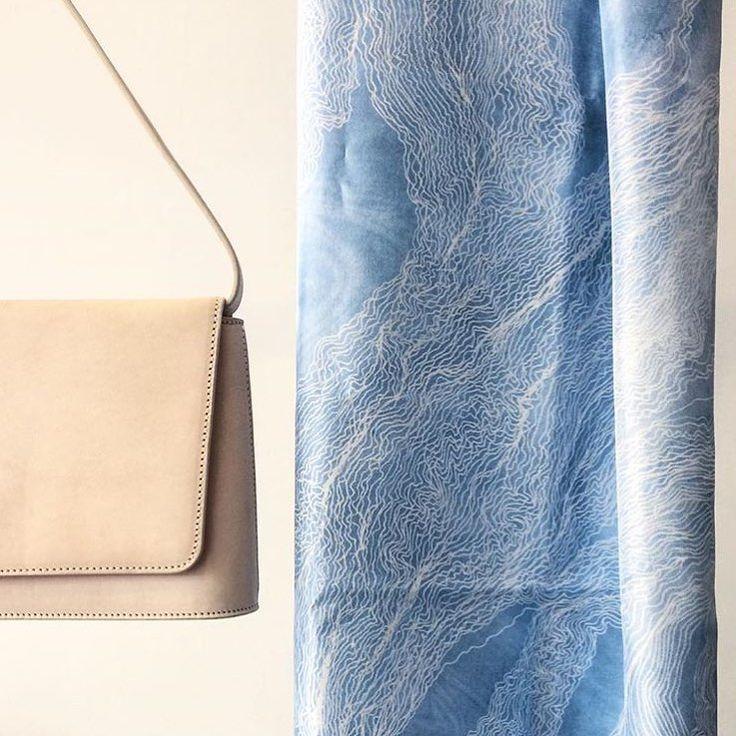 Scarf Lapis 65 x 200 cm 100% silk