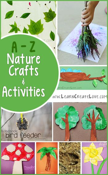 A-Z Nature Crafts and Activities | LearnCreateLove.com
