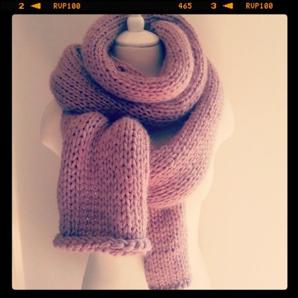 Made to order, super long chunky hand knitted scarf!