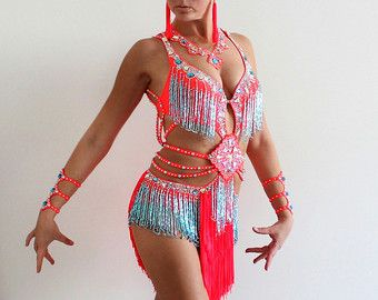 Dance costume for competition latin ballroom by CrinolinAtelier
