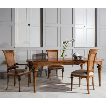 Frank Hudson Spire dining, large extending dining table exuding French Renaissance £1,688.00 Shop > http://www.beau-decor.co.uk/dining-room-furniture/frank-hudson-spire-dining-large-extending-dining-table