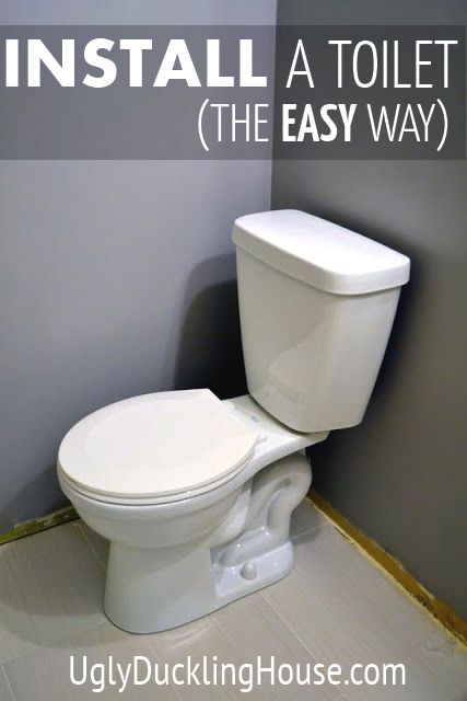 How to install a toilet - the easy way. One of the first things many new homebuyers do!